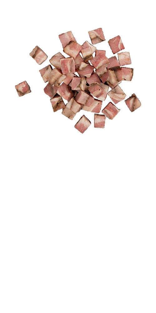 Cooked pancetta - Black pepper