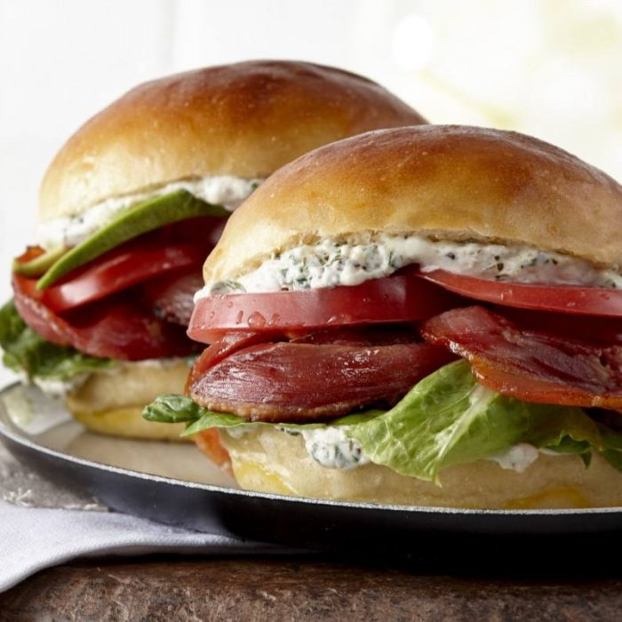 Sandwich BLT au bacon italien