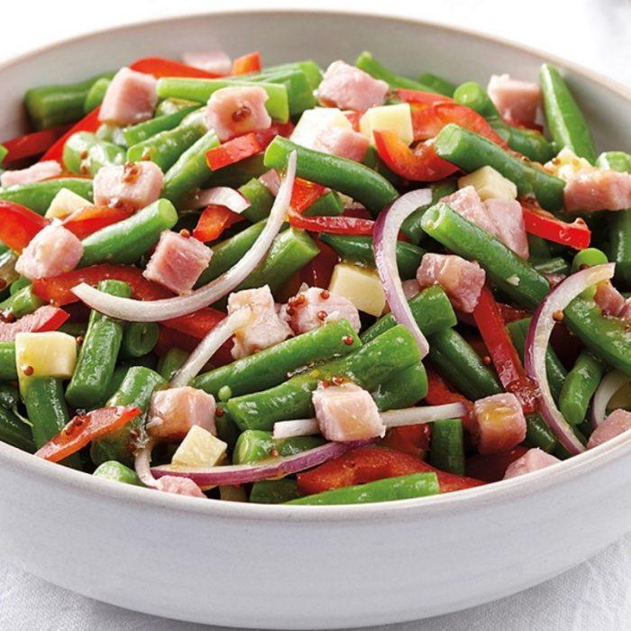 Green bean salad with Prosciutto cotto